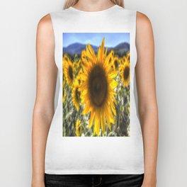 Sunflower Summer Biker Tank