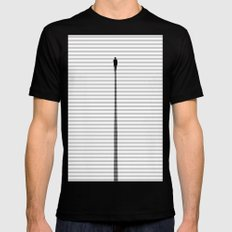 Up The Stair MEDIUM Black Mens Fitted Tee