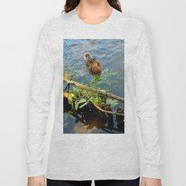Ducks in Lake Long Sleeve T-shirt