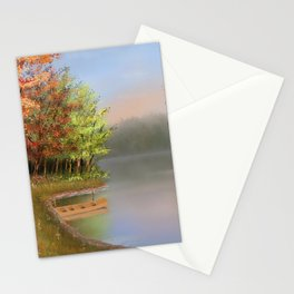 Riverside at fall Stationery Cards