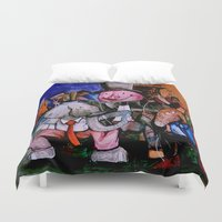 political Duvet Covers featuring Political Circus by eVol i