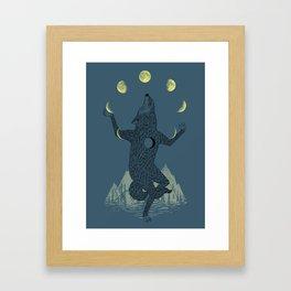 Moon Juggler Framed Art Print