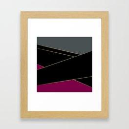 Angelica . Burgundy , gray , black Framed Art Print