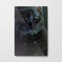 Galaxy Cat Metal Print