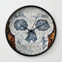 Galvanized Skull Wall Clock