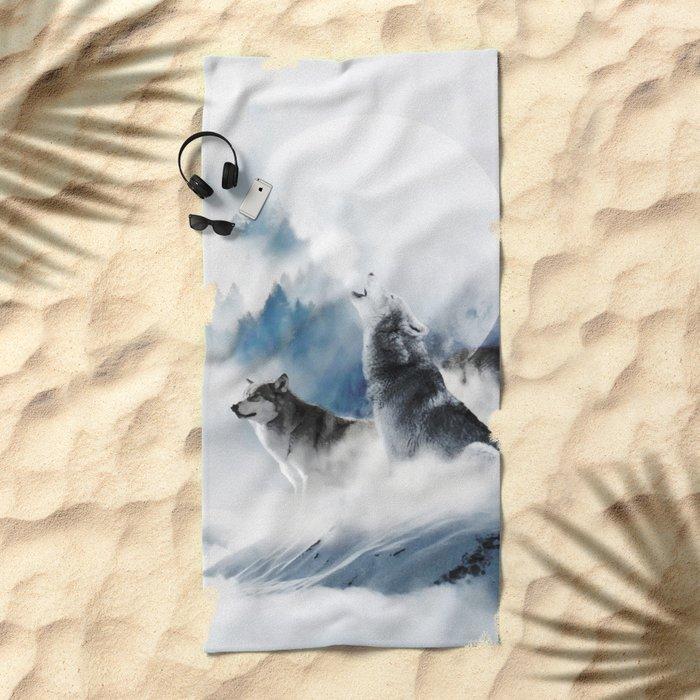 Ware Wolves #society6 #decor #buyart Beach Towel