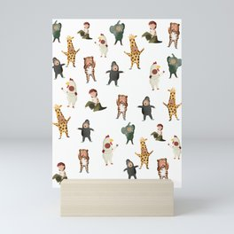 Animal Party Mini Art Print