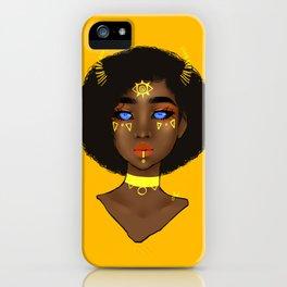 Yellow Demon iPhone Case