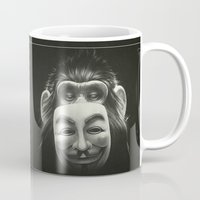 hat Mugs featuring Anonymous by Dr. Lukas Brezak