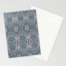 paisley medallion in deep teal Stationery Cards