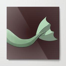 Mint Mermaid Tail V2 #Green #FantasyArt #Cartoon Metal Print