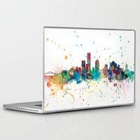 milwaukee Laptop & iPad Skins featuring Milwaukee Wisconsin Skyline by artPause