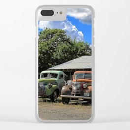 Colorful Trucks Clear iPhone Case