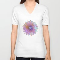 fairies V-neck T-shirts featuring Flower of Fairies by Klara Acel