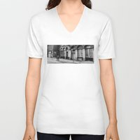 philadelphia V-neck T-shirts featuring Philadelphia Streetlife by Bo Derks