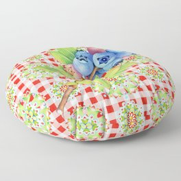 Wild Blueberry Red Gingham Floor Pillow