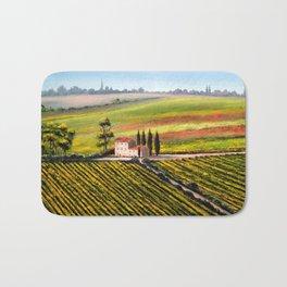 Vineyards In Tuscany Italy Bath Mat