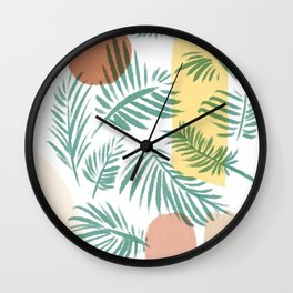 Abstract Illustration Nature Boho Wall Clock