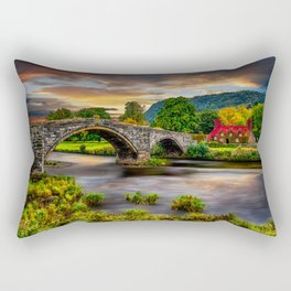 Llanrwst Bridge Rectangular Pillow