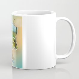 France map travel poster. Coffee Mug