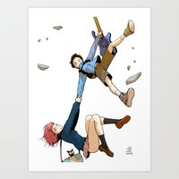 flcl Art Prints featuring Hand on tight! - FLCL by gabesapienza
