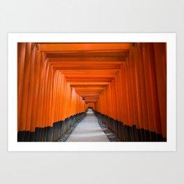 Fushimi Inari Shrine, Japan Art Print