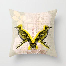 Two Birds Throw Pillow