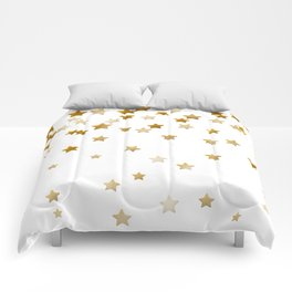Falling Stars - Gold Marble Comforters