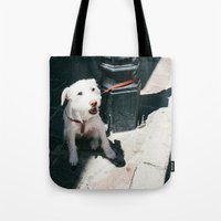 ben giles Tote Bags featuring Ben by Olivia Heights