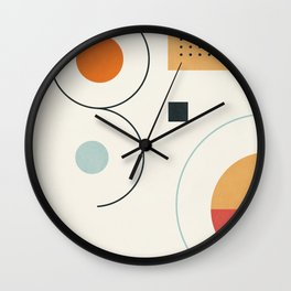 Clean Flow Geometry 8 Wall Clock