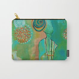 """Wish Believe"" Original Painting by Flora Bowley Carry-All Pouch"
