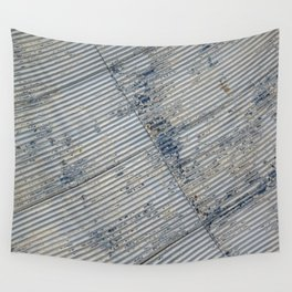 Warehouse District -- Rustic Farm Chic Abstract Wall Tapestry