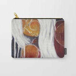 Storm Goddess // Woman Feminine Abstract White Lightning Electric Energy Power Red Fire Nature Earth Carry-All Pouch