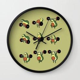 OLYMPIC LIFTING  Avocado Wall Clock