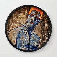 apollo Wall Clocks featuring Apollo by Chris The Artist