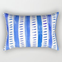 Watercolor lines - blue Rectangular Pillow