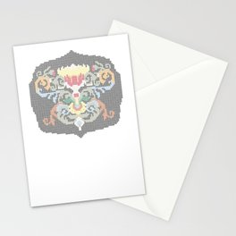 Real Cross Stitchable Pattern -- Renaissance Floral Color Coded Chart Stationery Cards