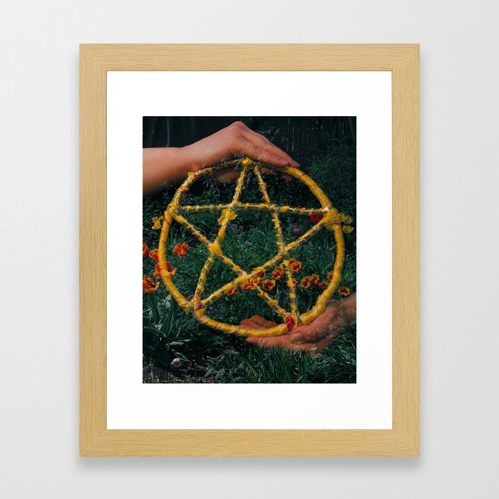 Ace of Pentacles Framed Art Print