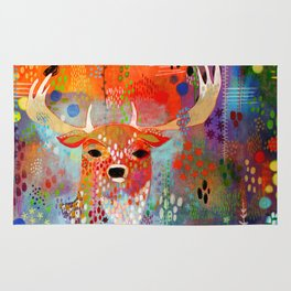 The Deer in the Thicket Rug