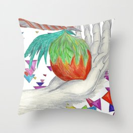 Alien Fruit Throw Pillow