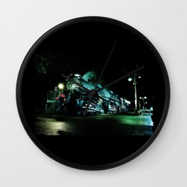 Riding on the Front. UP 4014. Union Pacific. Steam Train Locomotive. Big Boy. © J. Montague Wall Clock