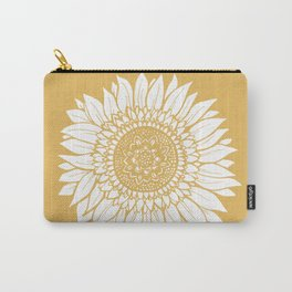 Yellow Sunflower Drawing Carry-All Pouch
