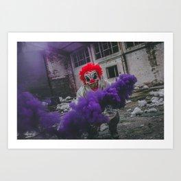 Halloween Scary Clown (Color) Art Print