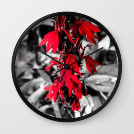 Cardinal Flower Wall Clock