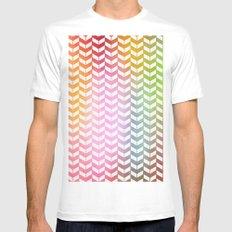 Taste the Rainbow Mens Fitted Tee MEDIUM White
