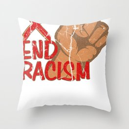 Anitrassism Tolerance Gift Openness to the World Throw Pillow