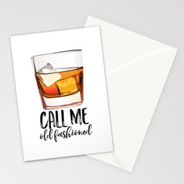 Alcohol Gift,Old Fashioned,Fashionista Party Decoration,Man cave,Gift For Husband,Call Me Old Stationery Cards