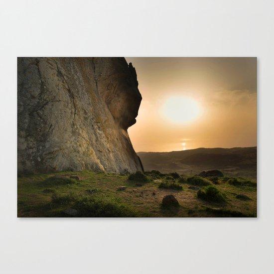ISLAND STORIES XVIII Mountain Sunset view Canvas Print