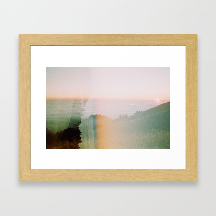 Moody Mountain Double Exposure - 35mm Film Framed Art Print
