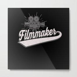 Filmmaker Cameraman Metal Print
